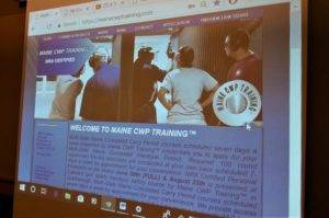 Maine CWP Training Screenshot
