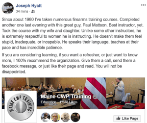 Maine CWP Training Testimonials https://mainecwptraining.com/news-events/testimonials/