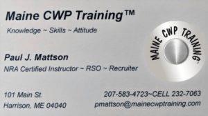 Maine CWP Training Contact https://mainecwptraining.com/
