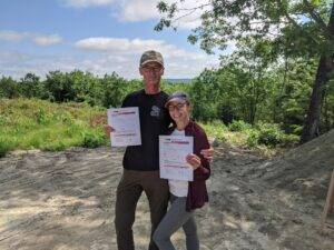 Gina and Hagen successfully completed our online NRA Basics of Pistol Shooting Performance Demonstration  https://mainecwptraining.com/course-products/nra-basic-pistol-shooting-online-study-course-material/