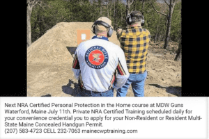 MDW Guns Personal Protection in the Home https://mainecwptraining.com/course-products/personal-protection-in-the-home/
