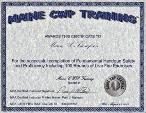 Fundamental Handgun Safety and Proficiency scheduled daily https://mainecwptraining.com/course-products/fundamental-handgun-safety-and-proficiency/